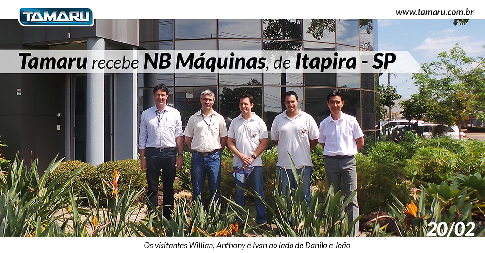 NB Máquinas, de Itapira, visita a Tamaru Ferramentas