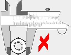 contraexemplo 1 – medição externa – objeto muito distante da escala