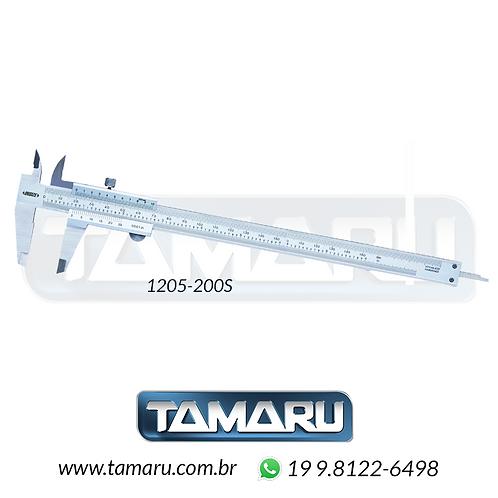 Paquímetro Analógico 1205-200S 200mm - Leit. 0,01mm - Insize