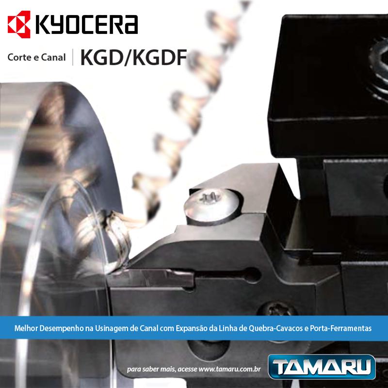 Quebra-Cavaco porta-ferramenta Corte e Canal KGD/KGDF Kyocera