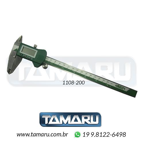 Paquímetro Digital 1108-200 - 200mm - Leit. 0,01mm - Insize