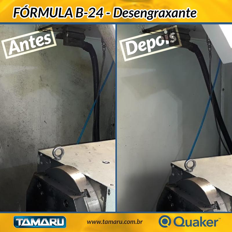 Fórmula B-24 Quaker - Antes e Depois