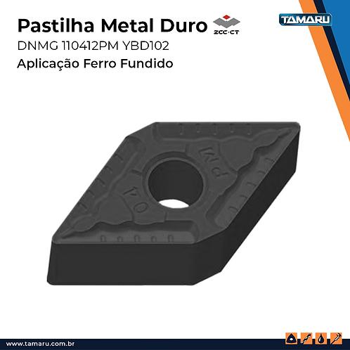 DNMG 110412-PM YBD102 p/ Ferro Fundido - Caixa c/ 10 Un.