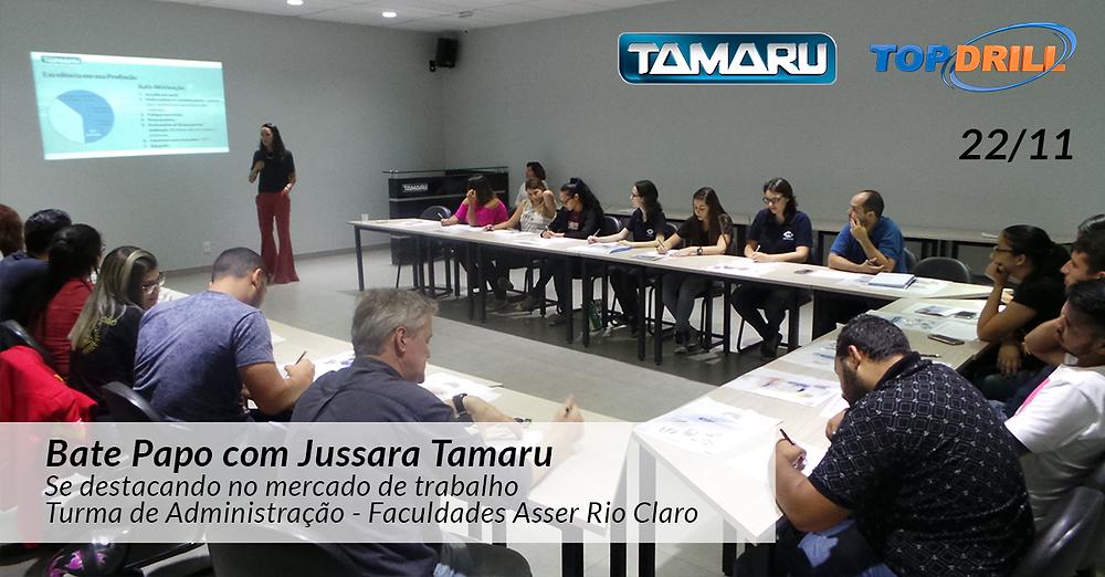 Turma de Administração ADM da Faculdade ASSER de Rio Claro - SP em palestra na Tamaru
