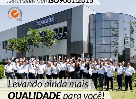 Agora a Tamaru também é certificada com a ISO 9001:2015!