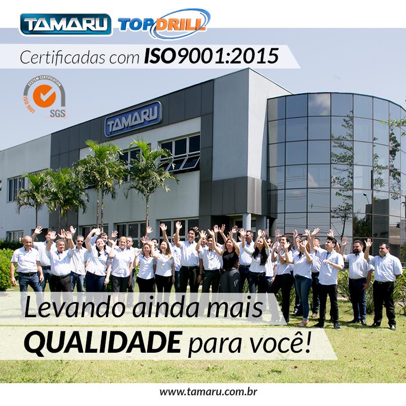 Tamaru Fluidos e Ferramentas para Usinagem Metrologia Fresas ISO 9001:2015