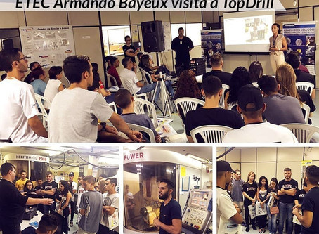 TopDrill recebe a Escola Técnica (ETEC) Armando Bayeux