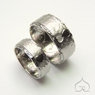 titanium trouwringen met vingerafdruk