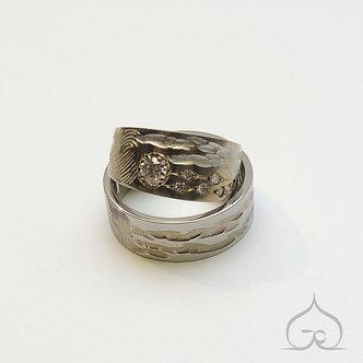 trouwringen titanium diamant