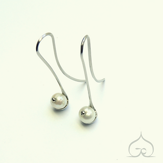 boucles d'oreilles avec perles