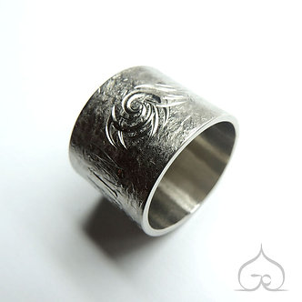 titanium duimring met gravure