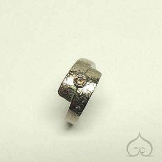 bague de fiançaille titane diamant