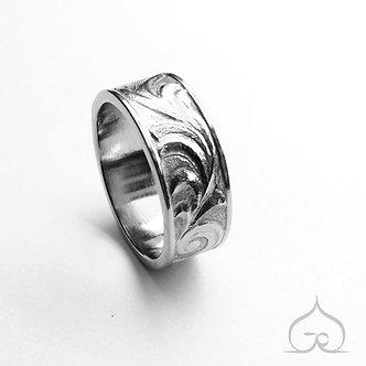 anneau de mariage sculpté