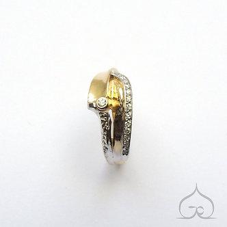 bague de fiançailles or & diamant