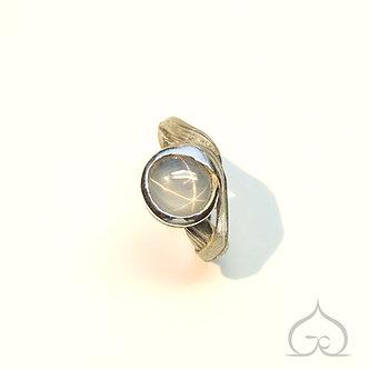 zilveren ring met stersafier