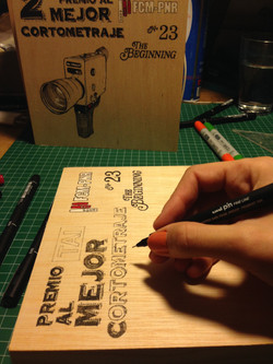 Ilustraciones sobre madera