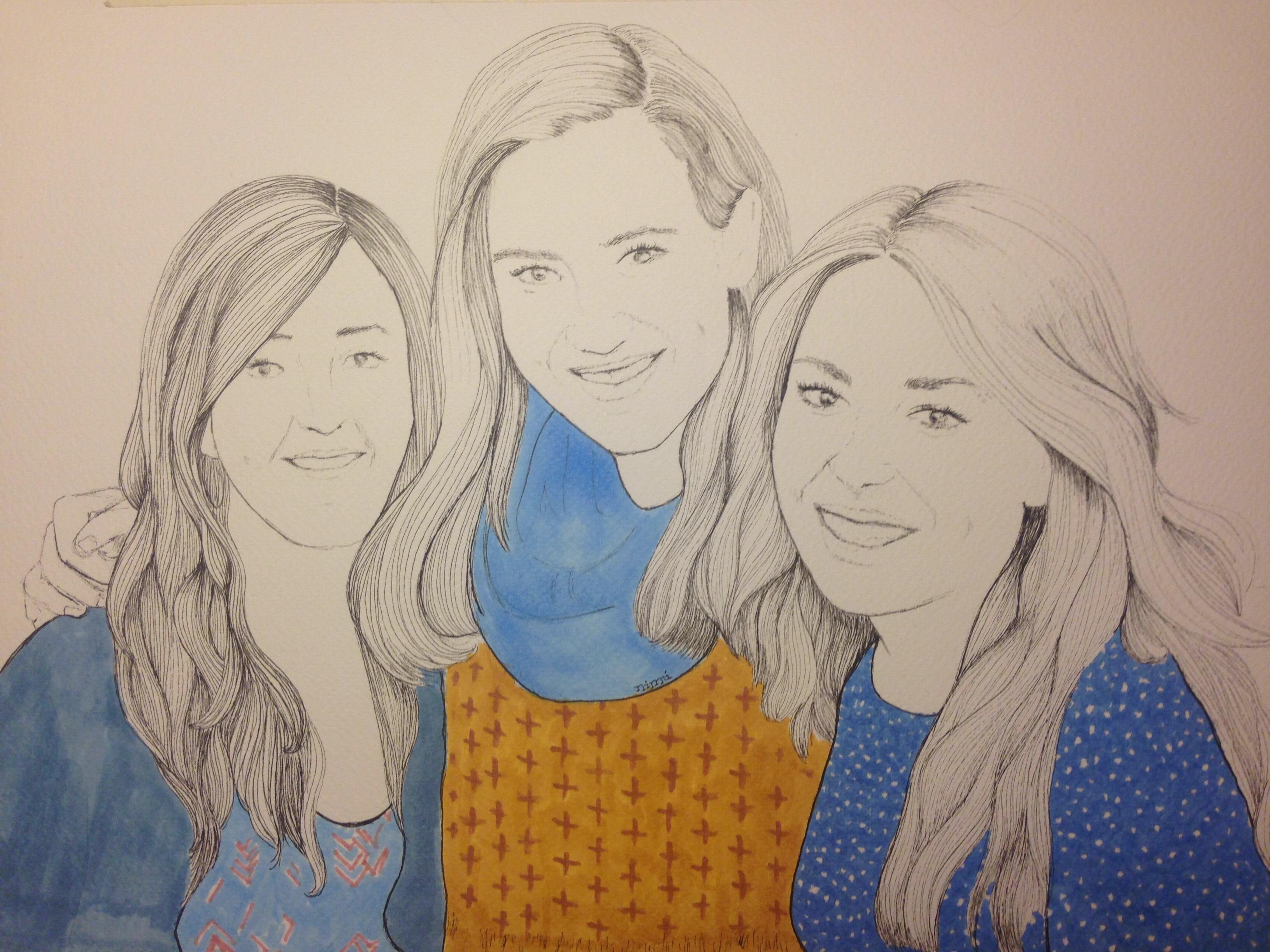 Retrato tres caras