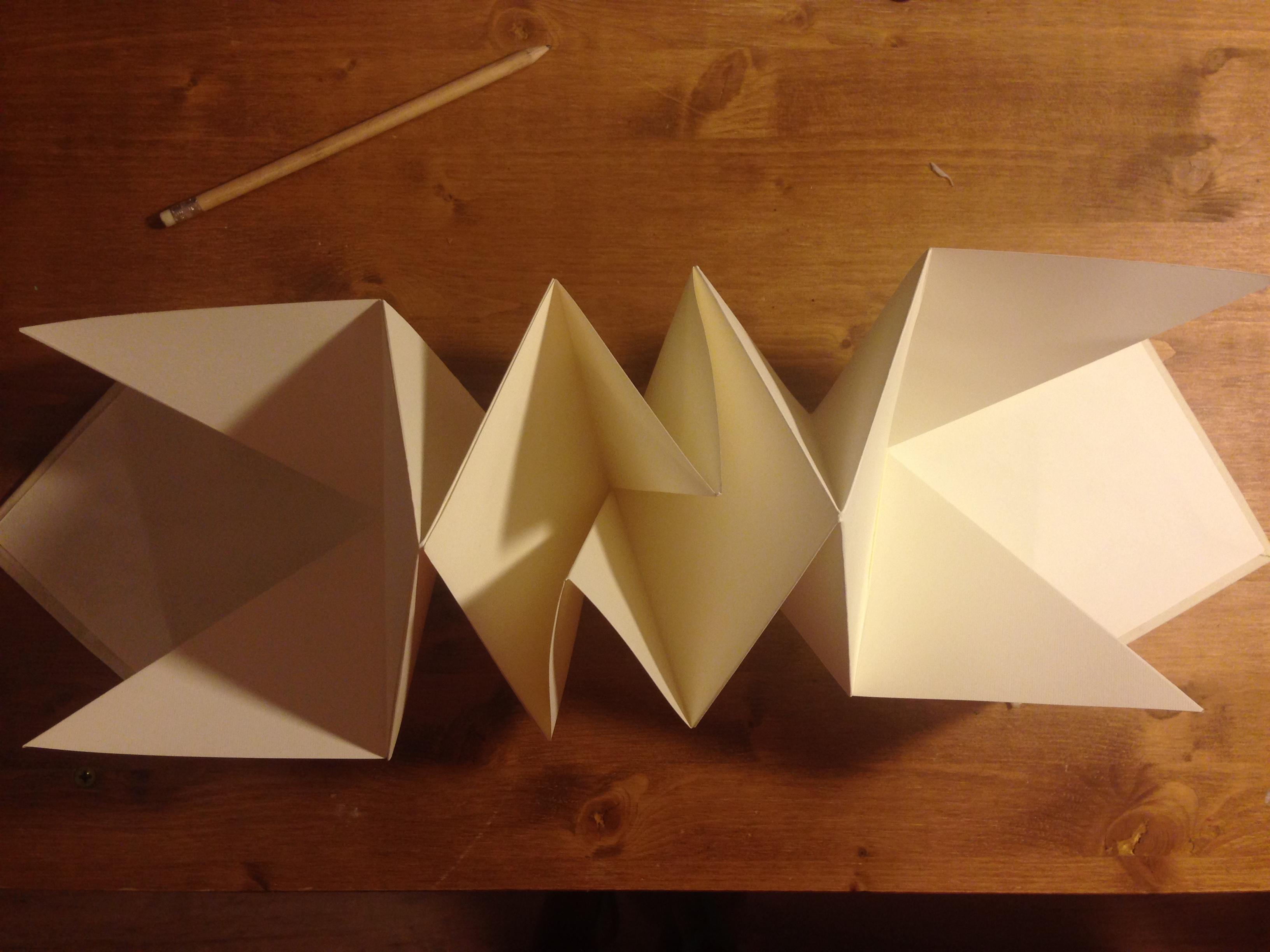 Cuaderno origami interior