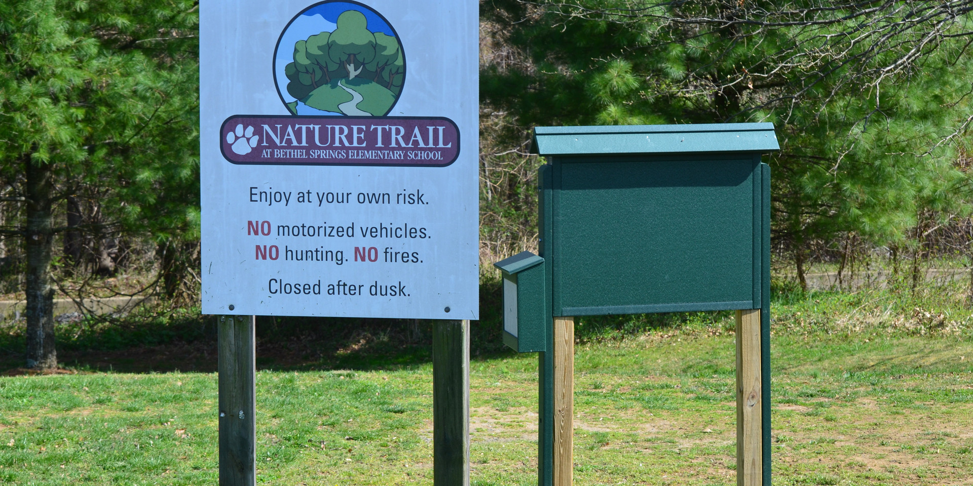 Nature Trail Entrance Sign