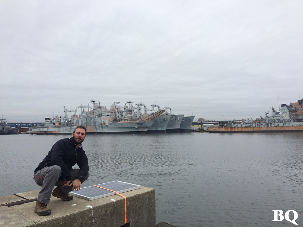Mike among ships in the Navy Yard, 2016-12-26
