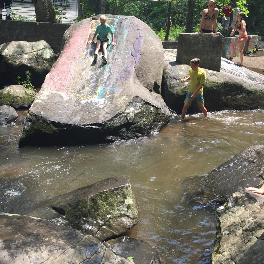 The Rock Slide at St. Peters Village