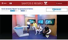 Entrevista para TV Globo de Santos e região
