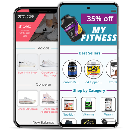 ecommerce mobile app, fitness app, fitness ecommerce, footwear ecommerce