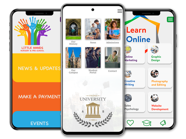 education mobile app, education app, nursery mobile app, nursery app, university app, university mobile app, learn online app, online learning mobile app