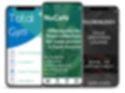 Mobile apps, cafe mobile app, coffee shop mobile app, coffee mobile app, fitness mobile app, fitness app, gym app, barbers app, barber app