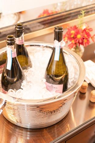 Celebratory Champagne on Ice