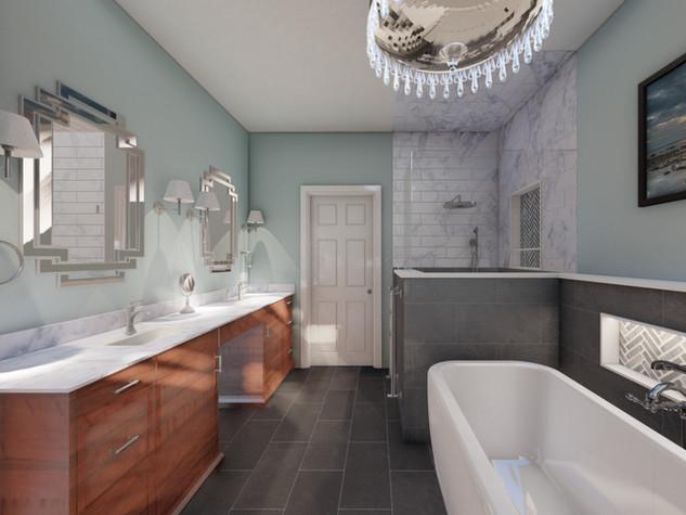 Master bathroom interior