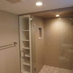 Basement shower