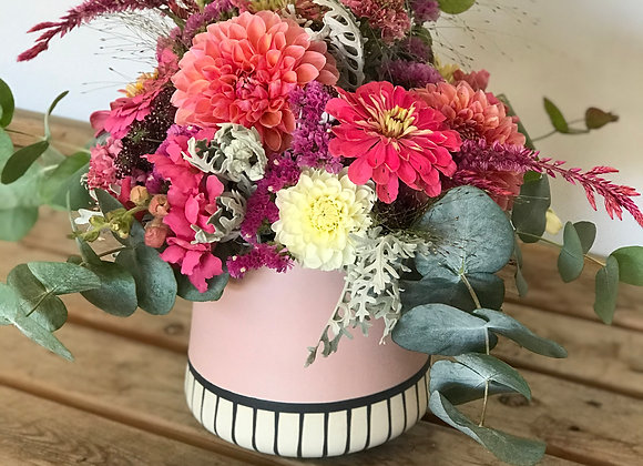 Delivery: Seasonal Blush Vase Arrangement