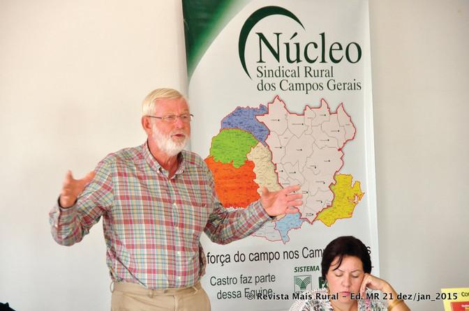 Guilherme Jonker é o novo presidente do Núcleo Sindical Rural dos Campos Gerais