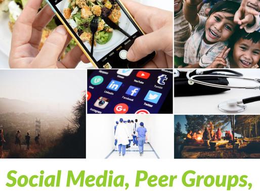 Social Media, Peer Groups, and Downstream Health