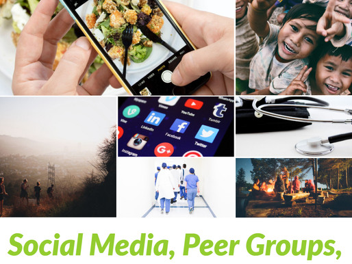 Social Media, Peer Groups, and Downstream Health