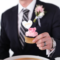 groom and cupcake