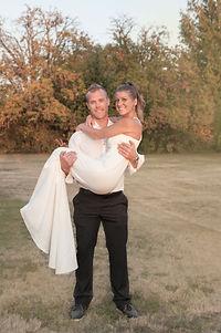 backyard Bride and Groom
