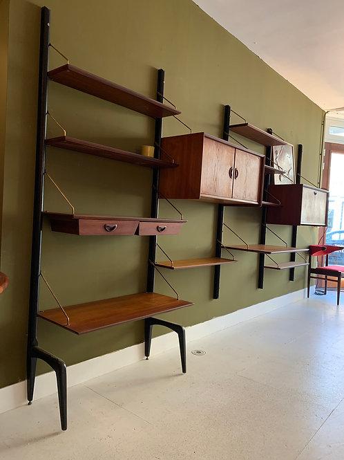 Vintage wandsysteem van Louis van Teeffelen voor webe, jaren 50
