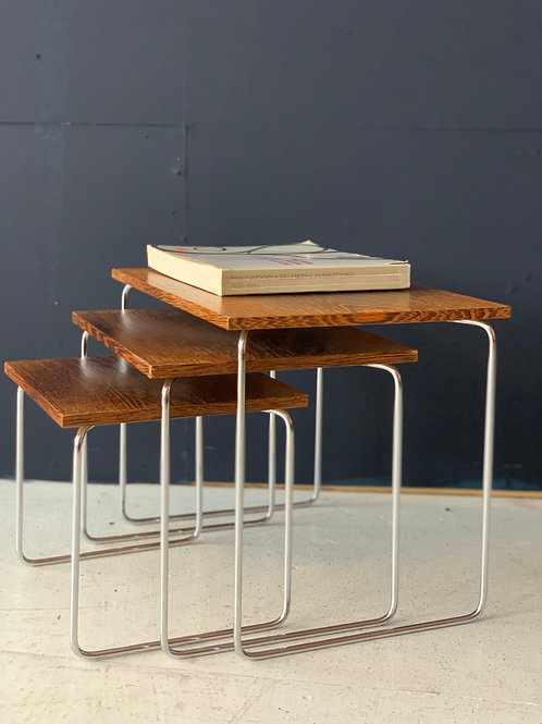 Nesting tafels mimi set vintage wenge hout
