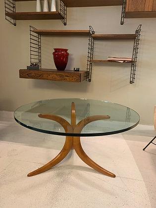 Glazen salontafel rond Deens design ronde tafel