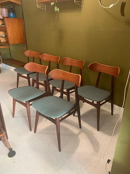 Webe Karstrup chairs mid century van Teeffelen design