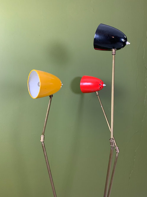 Italiaanse lamp 3- armig jaren 50
