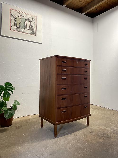 Vintage hoge ladekast, Deens design