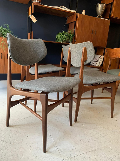 Dining chairs Hamar designed by Louis van Teeffelen for Webe, 1960s,