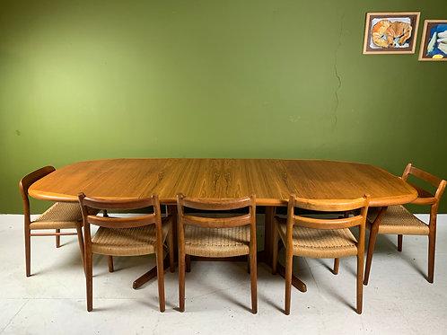 Vintage uitschuifbare eettafel van Dyrlund