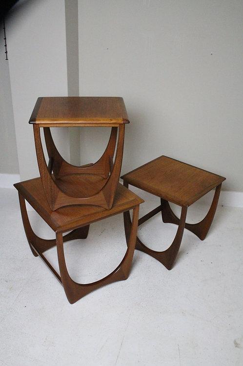 Vintage G plan nesting tables, bijzettafeltjes, 60's.