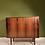 Vintage Deense palissander dressoir met jaloeziedeuren