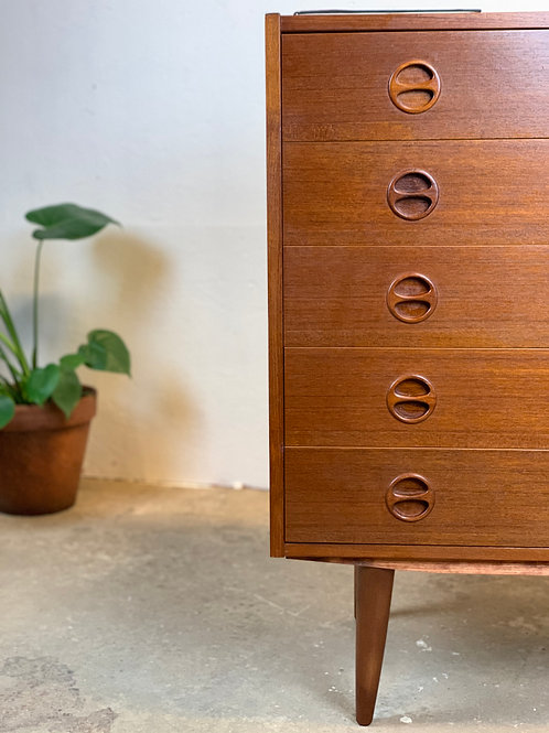 Vintage ladekast teak, hip design