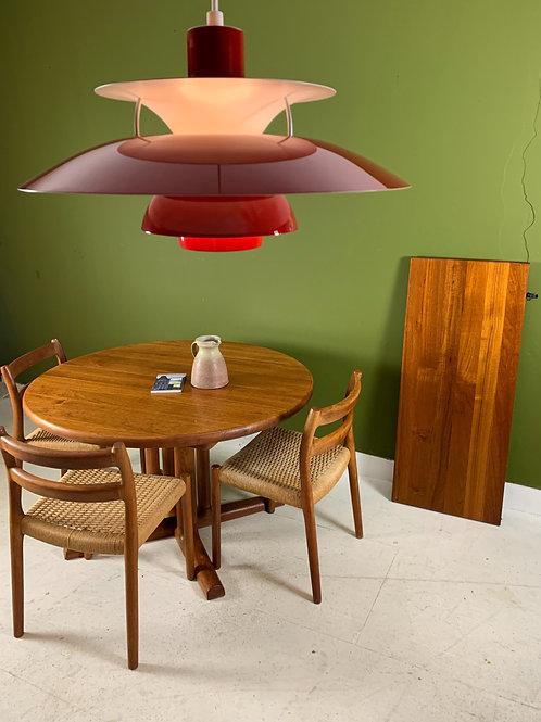 Vintage ronde uitschuifbare tafel van Dyrlund